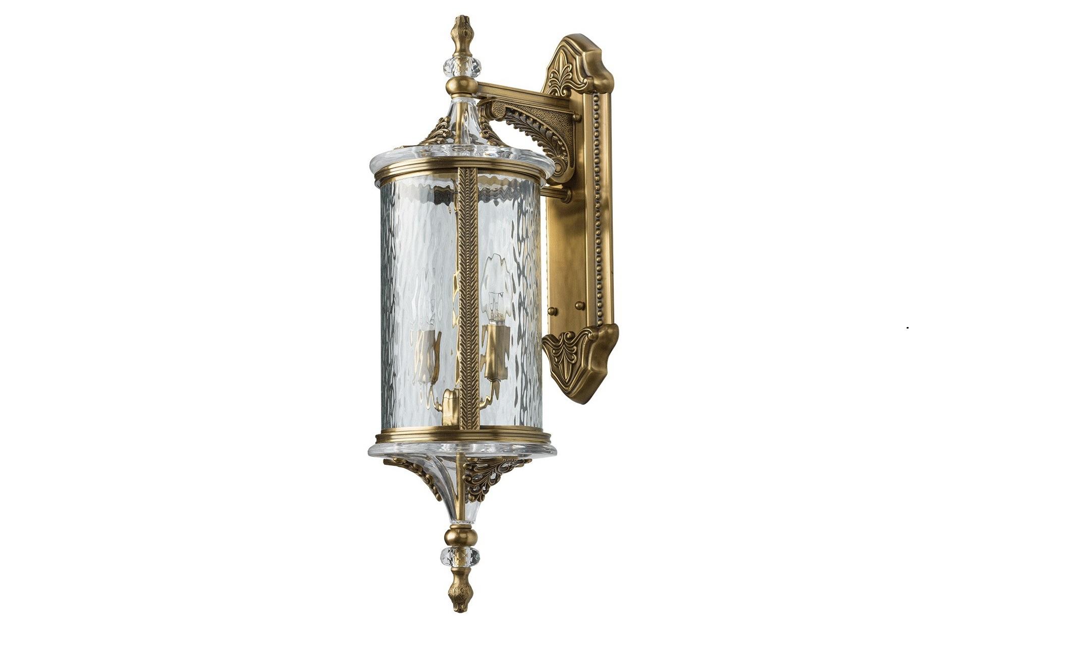 Уличный светильник МидосУличные настенные светильники<br>&amp;lt;div&amp;gt;Уникальный светильник из коллекции «Мидос» создан для любителей роскоши во всем, в том числе в освещении ландшафтной зоны. Он выполнен из латуни и художественного стекла, которые в дуэте создают завораживающую игру света, от которой невозможно оторвать глаз. Помимо этого, светильник украшен декоративными элементами из высококачественного хрусталя, создающего дополнительные переливы световых лучей. Высокий уровень IP защиты позволяет использовать его на улице и в помещениях с навесом. Такой светильник безусловно внесет в обстановку атмосферу блеска, изящества и благородства.&amp;lt;/div&amp;gt;&amp;lt;div&amp;gt;&amp;lt;br&amp;gt;&amp;lt;/div&amp;gt;&amp;lt;div&amp;gt;Площадь освещения порядка 12 кв.м.&amp;lt;/div&amp;gt;&amp;lt;div&amp;gt;Основание из латуни, плафон из стекла, декоративные элементы из хрусталя&amp;lt;/div&amp;gt;&amp;lt;div&amp;gt;Мощность 2*60W&amp;lt;/div&amp;gt;&amp;lt;div&amp;gt;Цоколь E14&amp;lt;/div&amp;gt;&amp;lt;div&amp;gt;Степень защиты светильников от пыли и влаги IP44&amp;lt;/div&amp;gt;<br><br>Material: Латунь<br>Length см: None<br>Width см: 20<br>Depth см: 26<br>Height см: 64