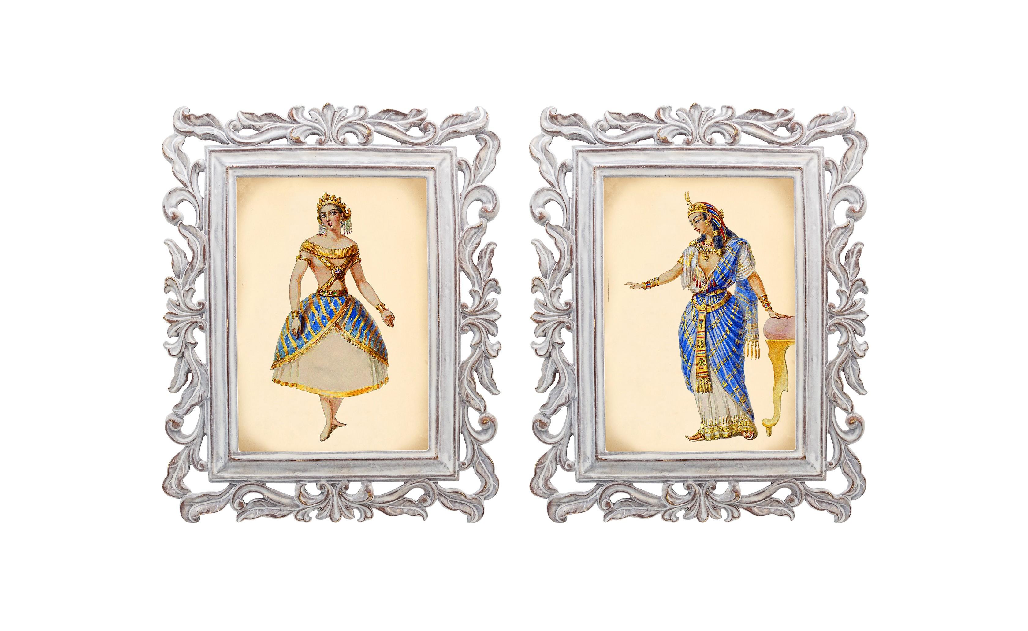 Набор из двух репродукций Агата и Бурлеск 13Картины<br>Репродукции старинных картин из серии «Бурлеск», на которых изображены дамы в одежде викторианской эпохи, производят потрясающий эффект. Благородный кашемир, роскошный атлас, тончайший шелк и аристократический бархат символизируют роскошь и богатство.<br>Этот изящный предмет декора завораживает и создает особую уютную атмосферу.<br>Изображения картин наполнены уникальными эмоциями и тайной, скрытой под кристально прозрачным стеклом.<br><br>Material: Камень<br>Width см: 21<br>Depth см: 1,7<br>Height см: 26