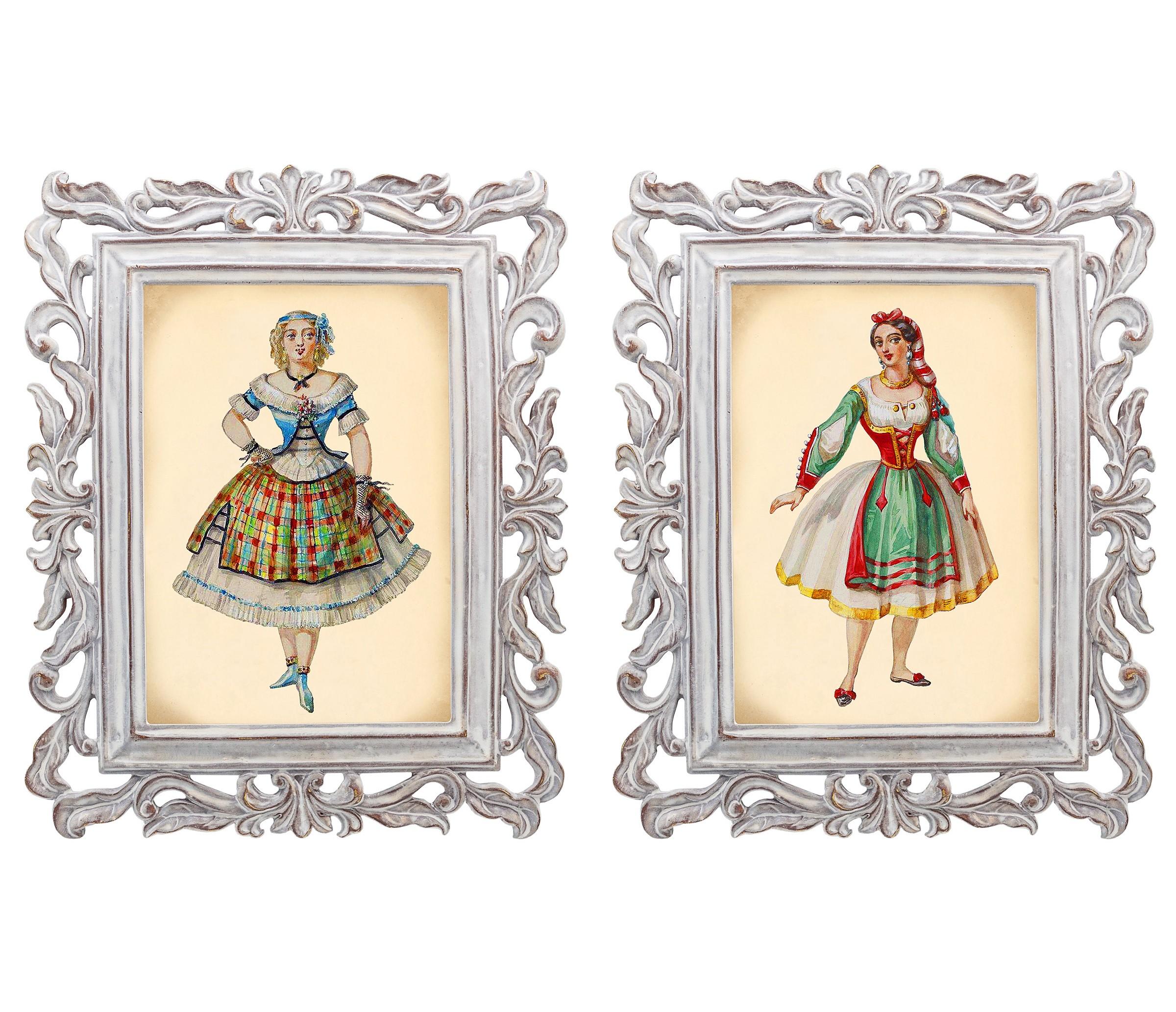 Набор из двух репродукций Агата и Бурлеск 11Картины<br>В моде викторианской эпохи достигалась гармония между женской хрупкостью и неприступной гордостью. Репродукции старинных картин из серии «Бурлеск» напоминают об этом времени богатства, роскоши и поистине королевского стиля. Это не только сентиментальное воспоминание о предметах и целых эпохах прошлого, — это еще и оригинальная деталь интерьера, которая поражает множеством элементов и эффектно смотрится в любом пространстве.<br><br>Material: Камень<br>Width см: 21<br>Depth см: 1,7<br>Height см: 26