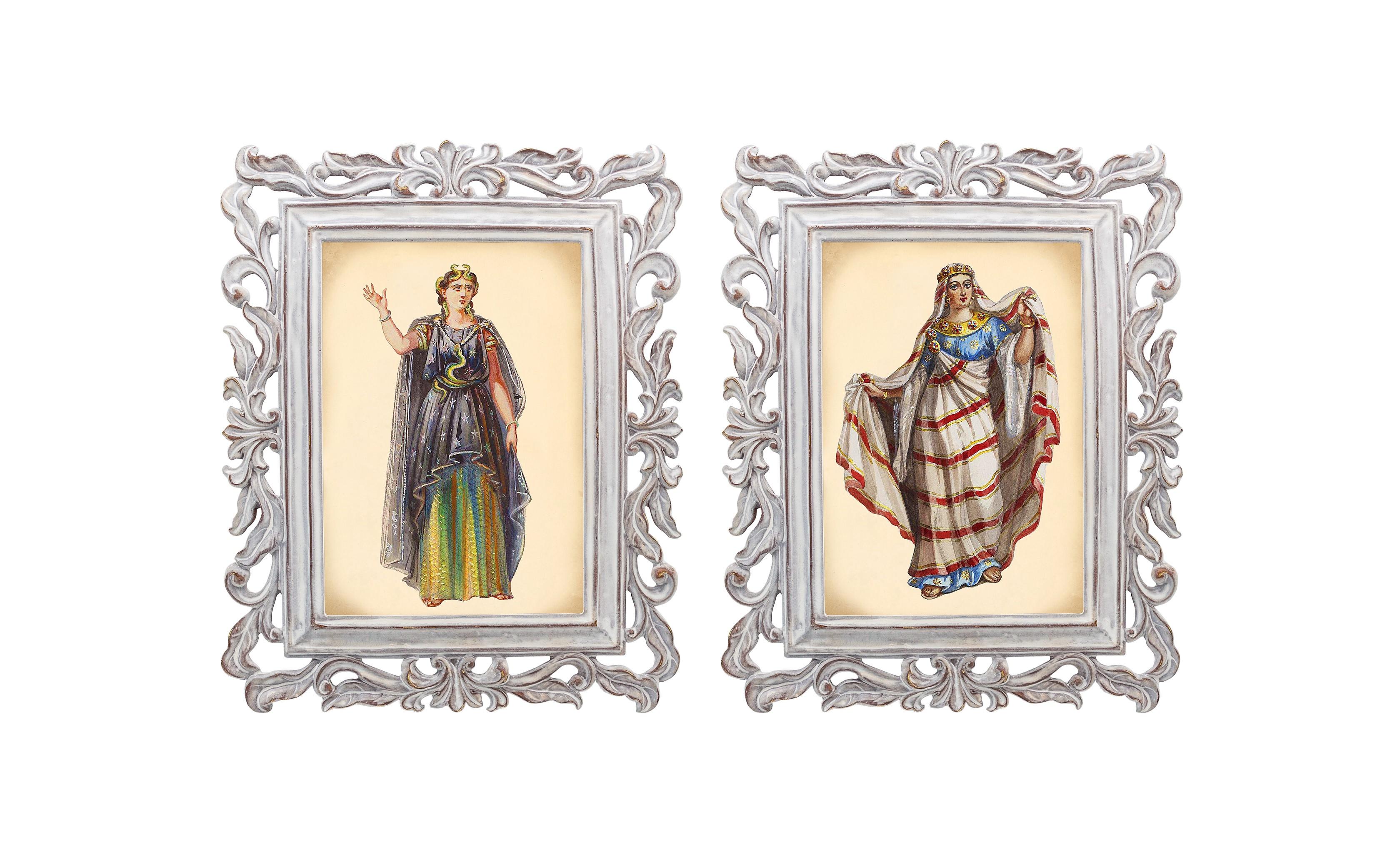 Набор из двух репродукций Агата и БурлескКартины<br>Репродукции старинных картин из серии «Бурлеск», на которых изображены дамы в одежде викторианской эпохи, производят потрясающий эффект. Благородный кашемир, роскошный атлас, тончайший шелк и аристократический бархат символизируют роскошь и богатство.<br><br>Material: Камень<br>Width см: 21<br>Depth см: 1,7<br>Height см: 26
