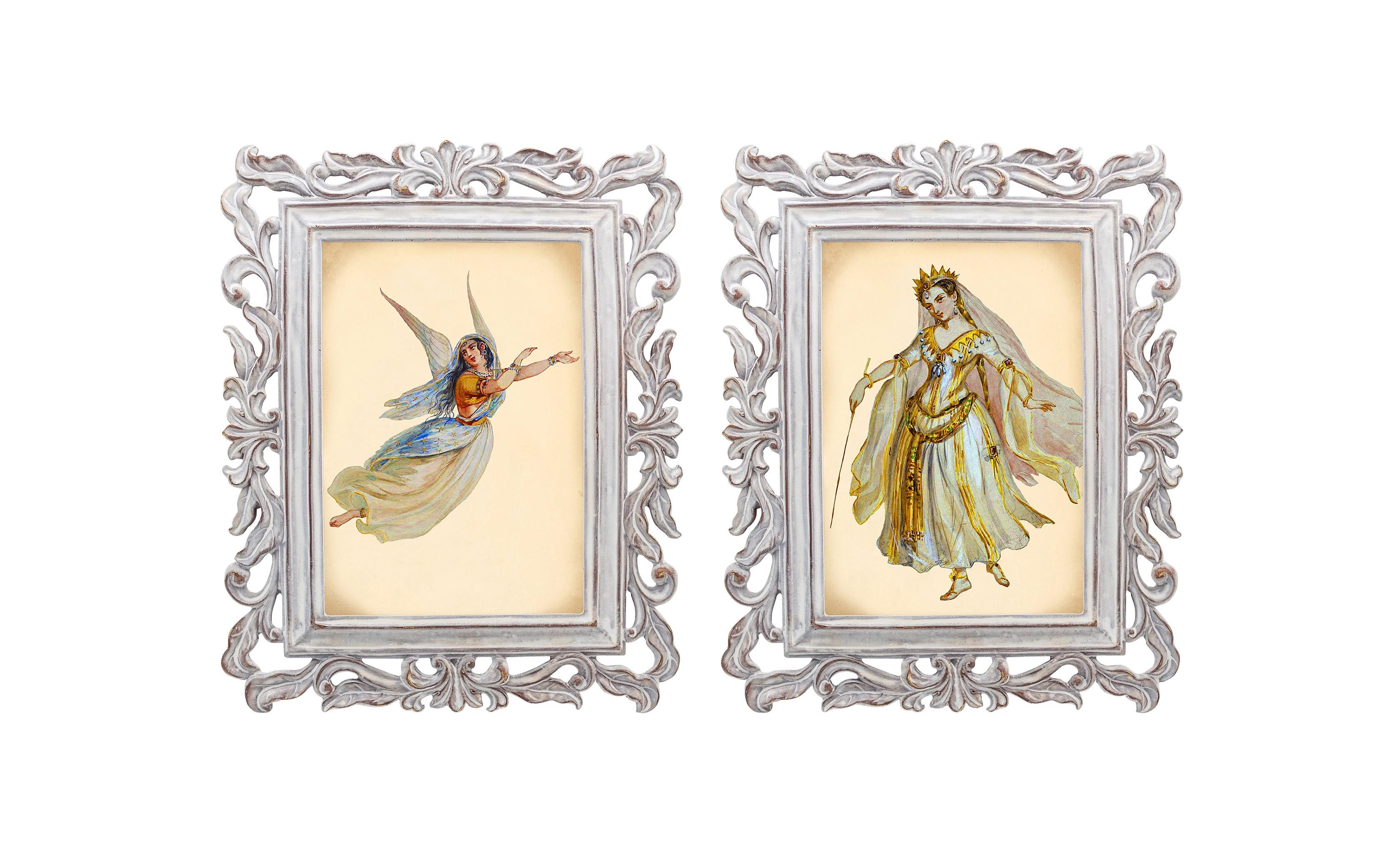 Набор из двух репродукций Агата и Бурлеск 2Картины<br>В моде викторианской эпохи достигалась гармония между женской хрупкостью и неприступной гордостью. Репродукции старинных картин из серии «Бурлеск» напоминают об этом времени богатства, роскоши и поистине королевского стиля. Это не только сентиментальное воспоминание о предметах и целых эпохах прошлого, — это еще и оригинальная деталь интерьера, которая поражает множеством элементов и эффектно смотрится в любом пространстве.<br><br>Material: Камень<br>Width см: 21<br>Depth см: 1,7<br>Height см: 26