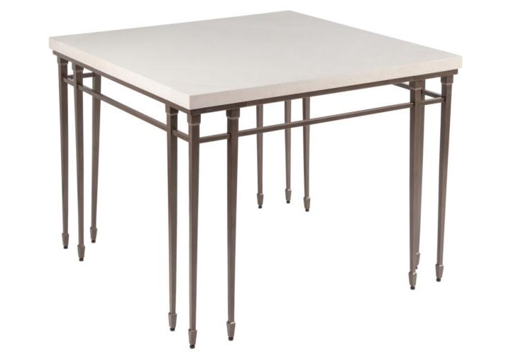 Стол обеденныйОбеденные столы<br>&amp;quot;Gotic Bistro Table&amp;quot; ? стол, завораживающий необычностью своей конструкции. Оригинальные соединения металлических деталей, похожие на готические шпили,делают его облик изящным. Холод металла превосходно оттеняется натуральной деревянной столешницей нейтральной гаммы.<br><br>Material: Дерево<br>Length см: None<br>Width см: 100<br>Depth см: 100<br>Height см: 76