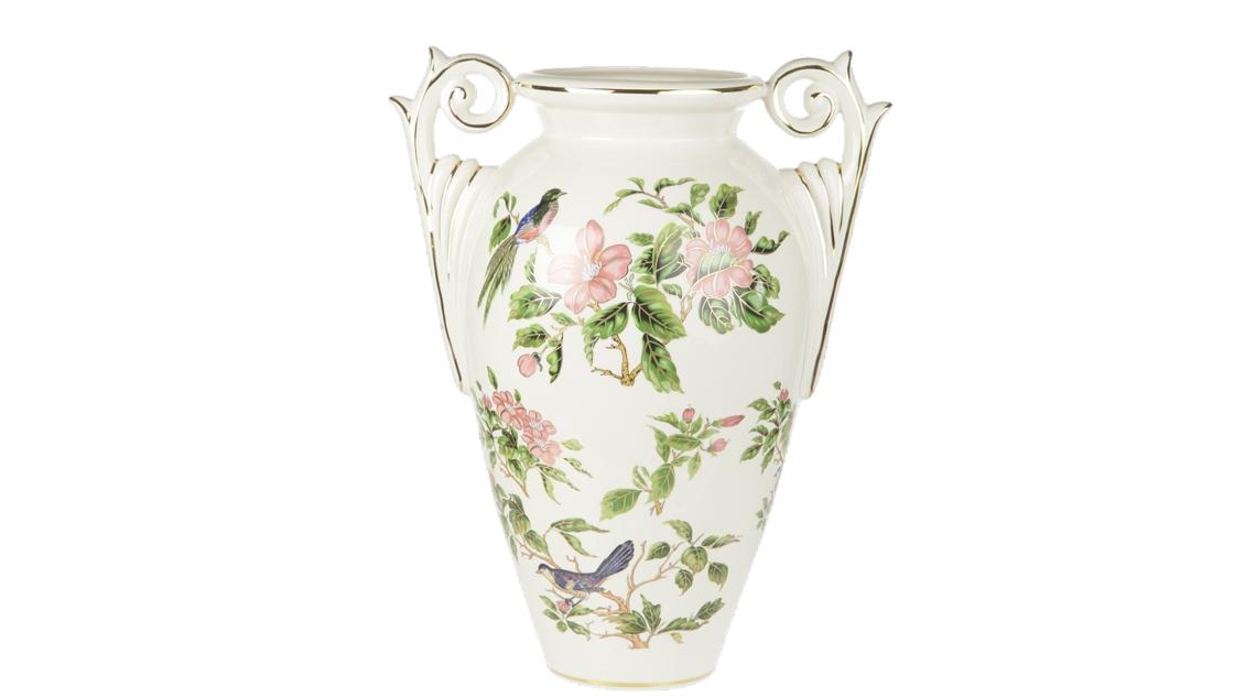 Ваза напольная ПтицыКашпо и вазы для сада<br><br><br>Material: Керамика<br>Length см: None<br>Width см: 45<br>Depth см: 30<br>Height см: 54