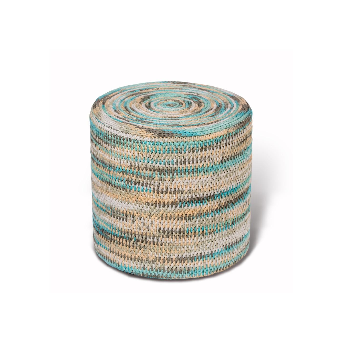 ПуфФорменные пуфы<br>Дизайнерский уникальный пуф ручной работы. Чехол сплетен из бамбуковых веревок бирюзово-бежевого цвета, мягкое войлочное дно. Наполнитель — формованный высококачественный ППУ, поэтому такой пуф можно использовать вместо табурета или ставить на него поднос с едой.&amp;lt;div&amp;gt;&amp;lt;br&amp;gt;&amp;lt;/div&amp;gt;&amp;lt;div&amp;gt;Гарантия на форму 5 лет&amp;lt;/div&amp;gt;<br><br>Material: Текстиль<br>Высота см: 47
