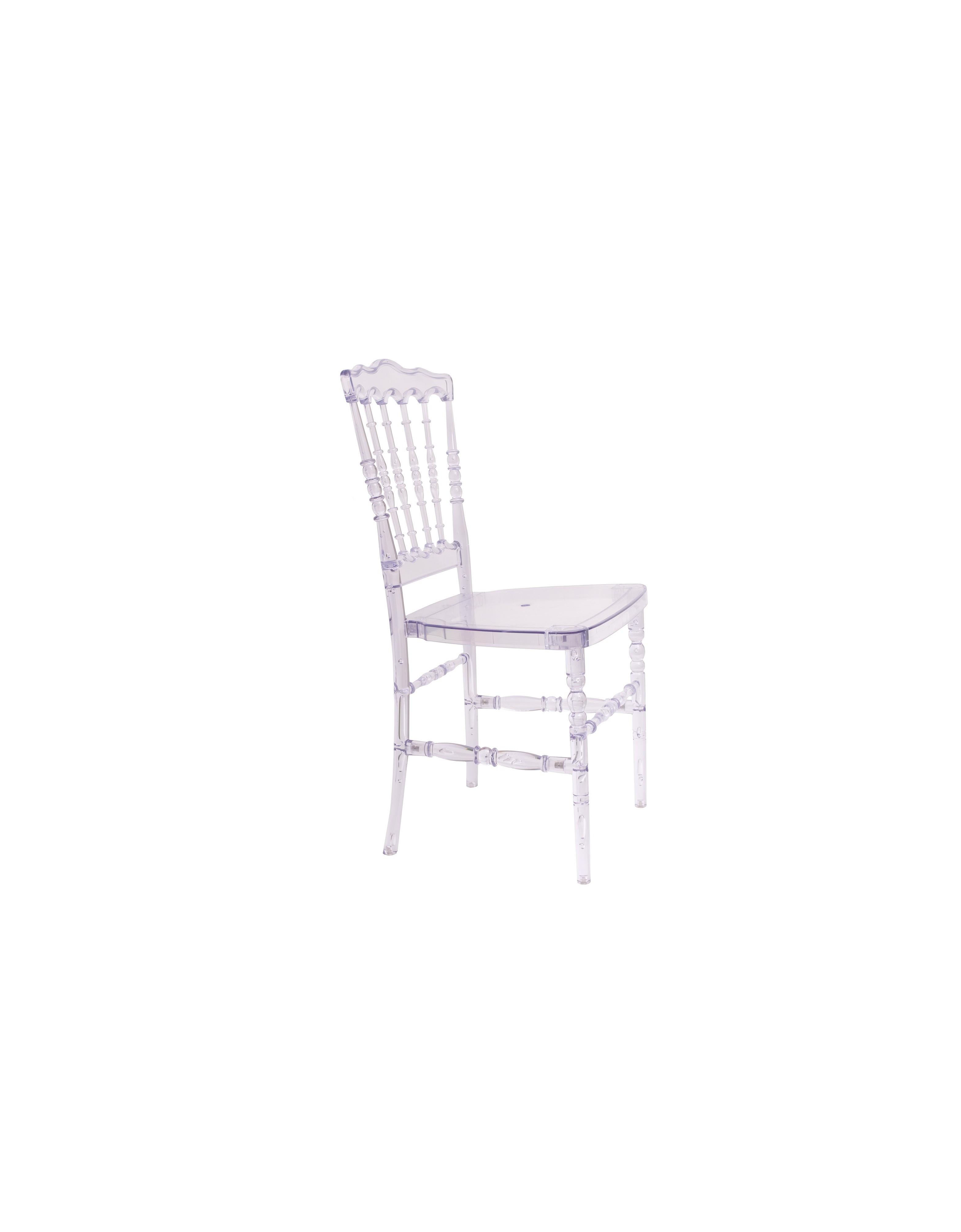 Стул КристаллОбеденные стулья<br>Коллекция «Кристалл», объединяющая в себе элементы классики и модерна, обладает изысканной элегантностью и плавностью линий, которые прекрасно дополнят интерьер кухни или гостиной. К тому же, изящный дизайн стульев Стул «Кристалл» будет прекрасным выбором для свадебного торжества, банкета и любого другого вечернего мероприятия.<br><br>Material: Пластик<br>Ширина см: 45<br>Высота см: 90<br>Глубина см: 40