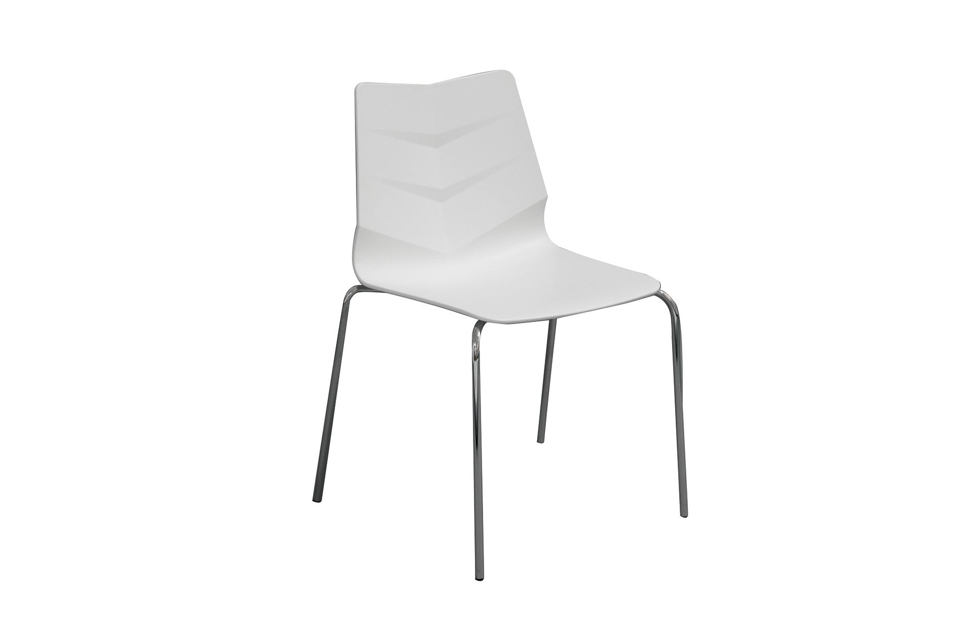 Стул LEAF-01 белыйОбеденные стулья<br><br><br>Material: Пластик<br>Width см: 57<br>Depth см: 52<br>Height см: 83