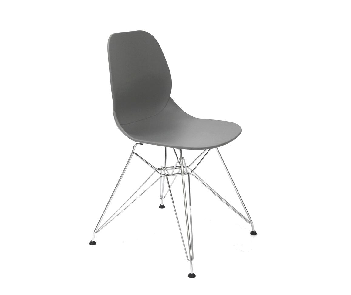 Стул CT-625 серыйОбеденные стулья<br><br><br>Material: Пластик<br>Width см: 48<br>Depth см: 48<br>Height см: 82