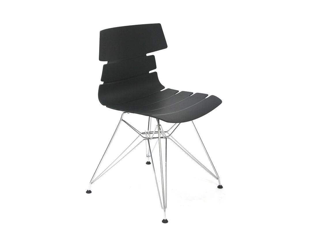 Стул CT-622 черныйОбеденные стулья<br><br><br>Material: Пластик<br>Width см: 51<br>Depth см: 47<br>Height см: 80
