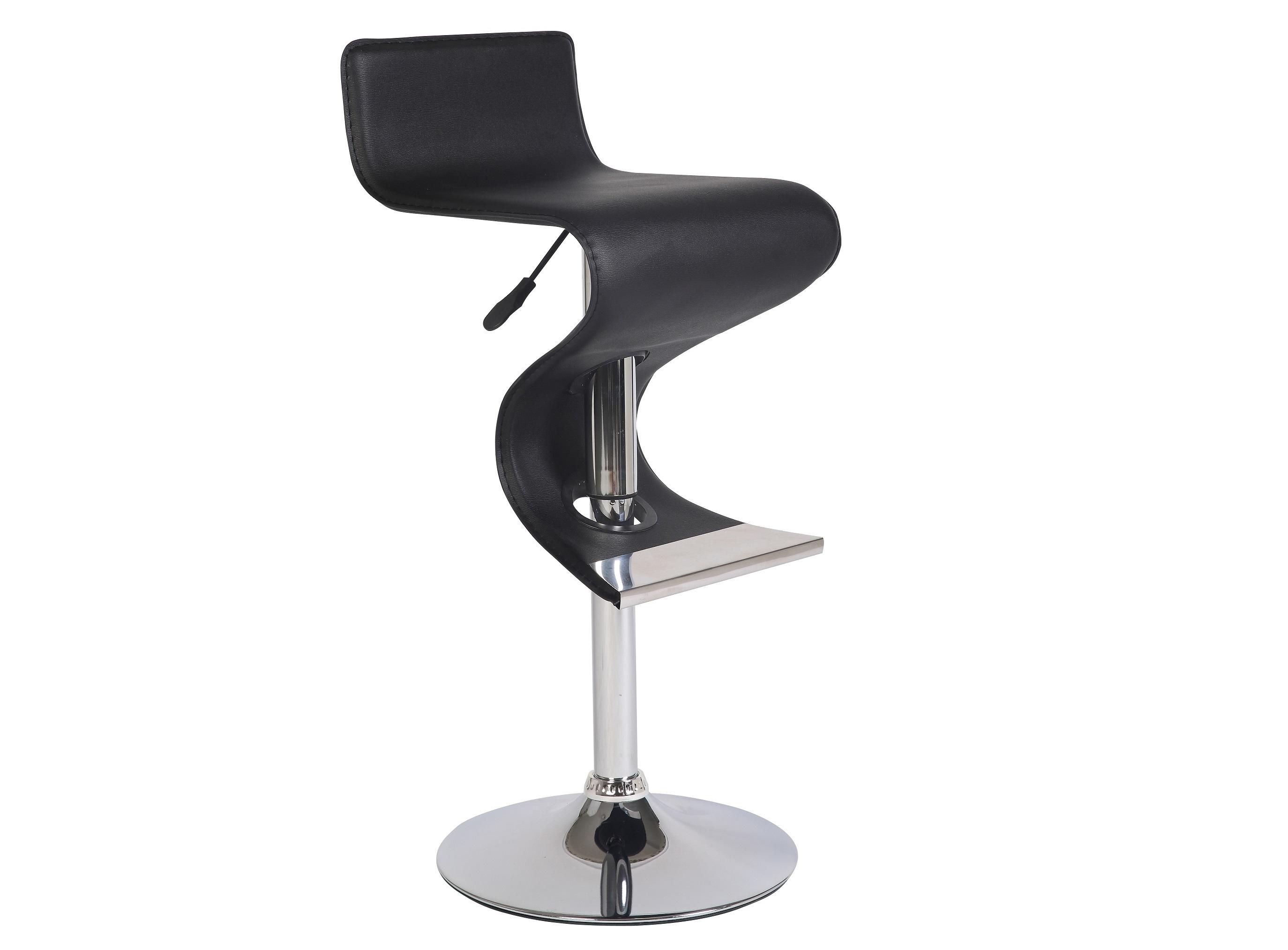 Стул барный JY958-1 черныйБарные стулья<br>Материал: Экокожа, хром<br><br>Material: Кожа<br>Width см: 49<br>Depth см: 45<br>Height см: 92