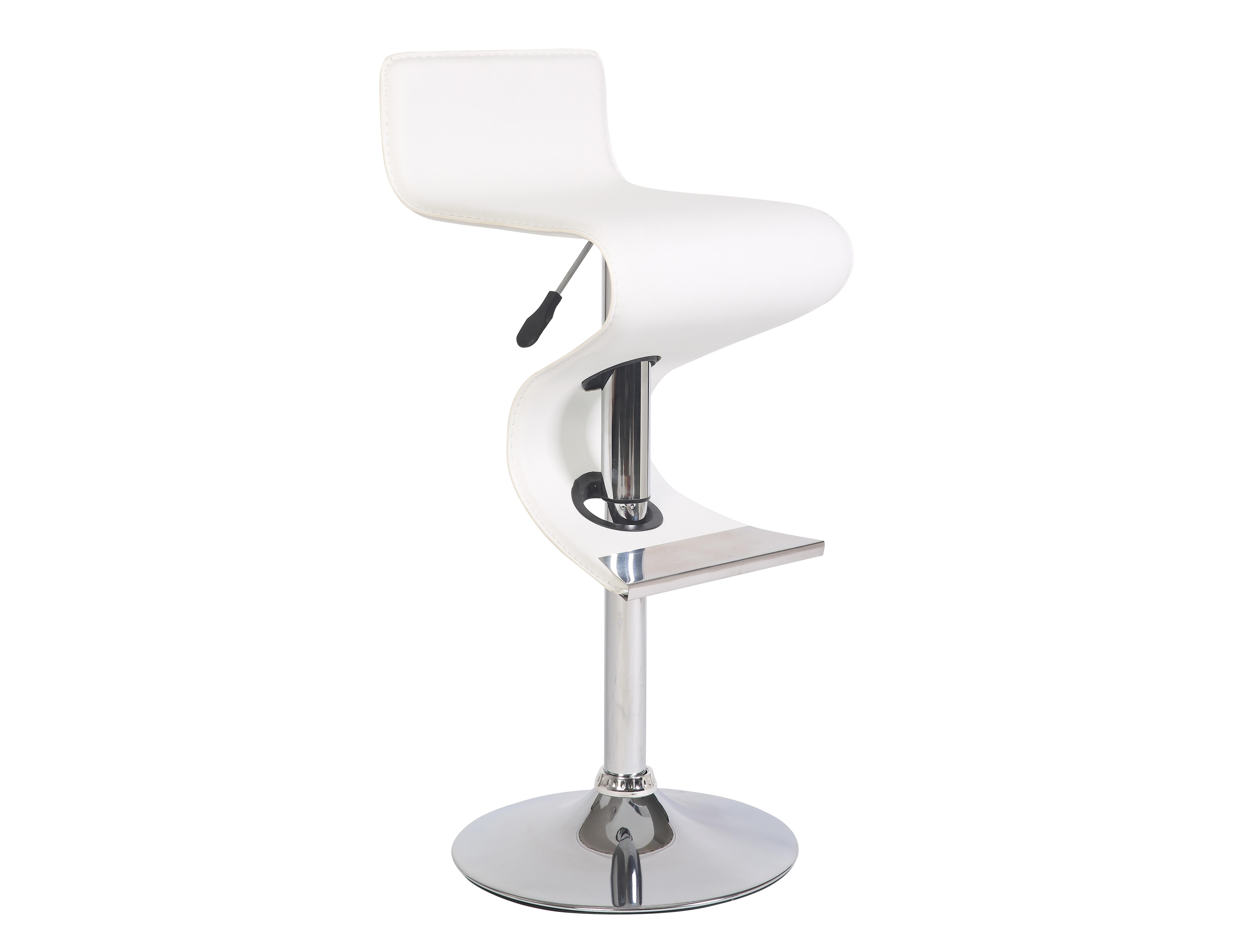 Стул барный JY958-1 белыйБарные стулья<br>Материал: Экокожа, хром<br><br>Material: Кожа<br>Width см: 49<br>Depth см: 45<br>Height см: 92