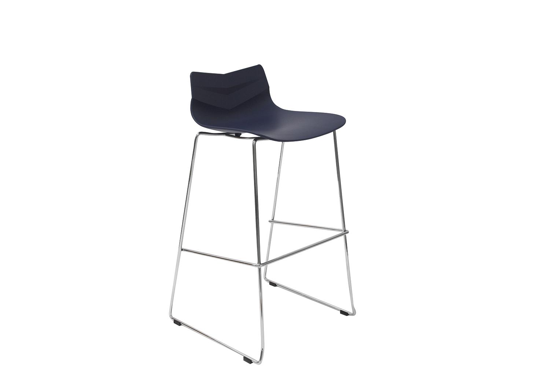 Стул барный LEAF-06 синийБарные стулья<br><br><br>Material: Пластик<br>Width см: 48<br>Depth см: 49<br>Height см: 100