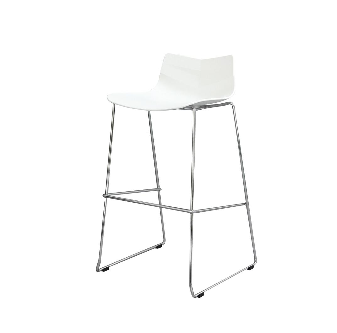 Стул барный LEAF-06 белыйБарные стулья<br><br><br>Material: Пластик<br>Width см: 48<br>Depth см: 49<br>Height см: 100
