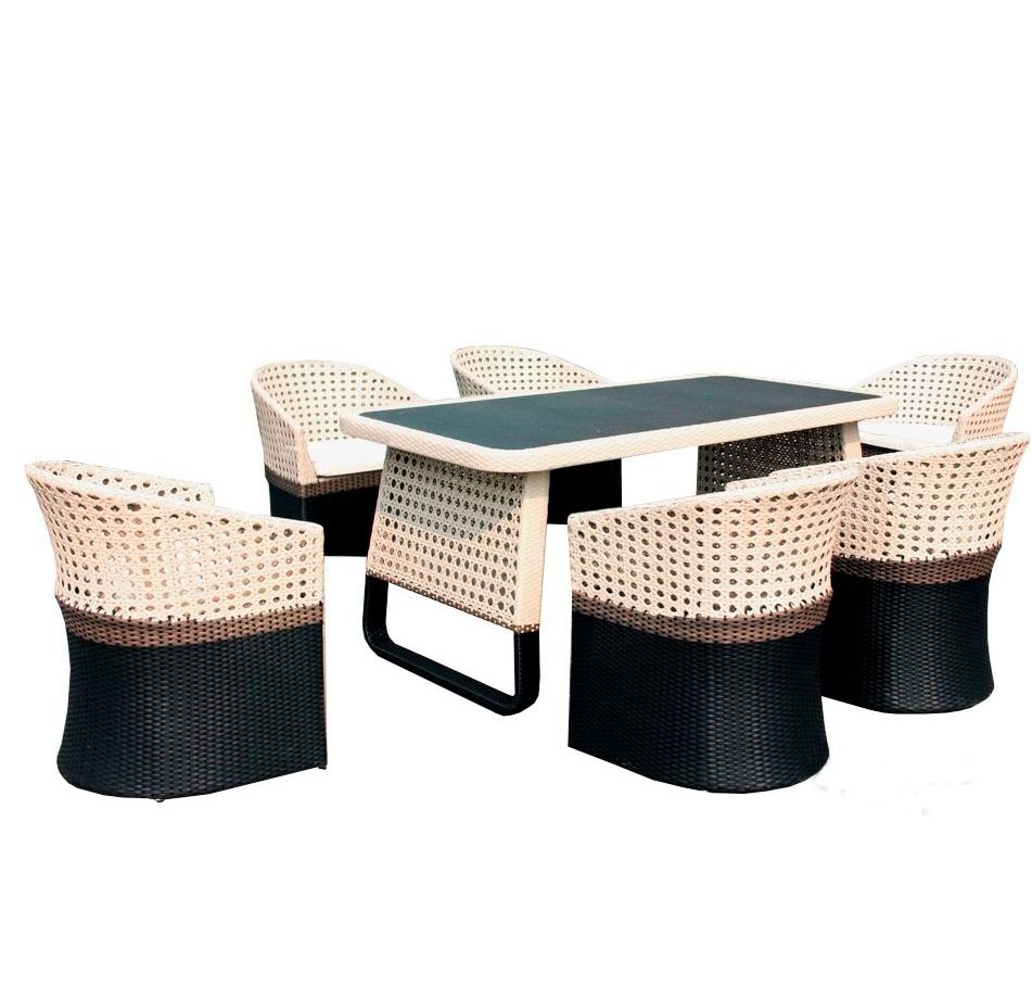 "BF Комплект мебели из ротанга ""CROCODILE"" (стол + 6 кресел)"