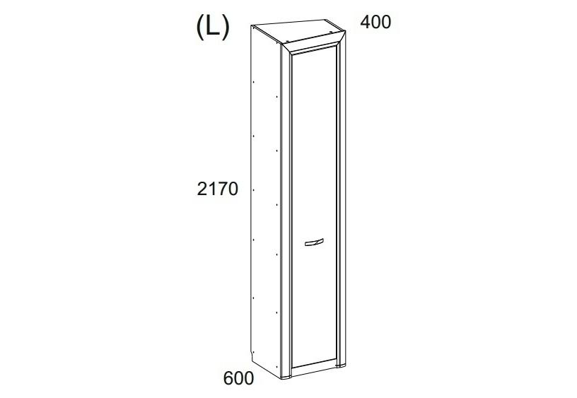Шкаф OLIVIAБельевые шкафы<br>&amp;lt;div&amp;gt;&amp;lt;b&amp;gt;Корпус&amp;lt;/b&amp;gt;&amp;lt;/div&amp;gt;Глубина по левому боку 583 мм&amp;lt;div&amp;gt;глубина по правому боку 360 мм;&amp;amp;nbsp;&amp;lt;/div&amp;gt;&amp;lt;div&amp;gt;Корпус<br>Цвет: вудлайн кремовый&amp;amp;nbsp;&amp;lt;/div&amp;gt;&amp;lt;div&amp;gt;Материал: ДСП ламинированная - 16 мм ,&amp;amp;nbsp;&amp;lt;/div&amp;gt;&amp;lt;div&amp;gt;планки МДФ ламинированная патинированная<br>-22 мм&amp;amp;nbsp;&amp;lt;/div&amp;gt;&amp;lt;div&amp;gt;Полки: ДСП ламинированное 16 мм&amp;amp;nbsp;&amp;lt;/div&amp;gt;&amp;lt;div&amp;gt;Тип облицовки: ПВХ 0,5; 2мм&amp;amp;nbsp;&amp;lt;/div&amp;gt;&amp;lt;div&amp;gt;Задняя стенка: HDF , белая 2,5 мм&amp;amp;nbsp;&amp;lt;/div&amp;gt;&amp;lt;div&amp;gt;&amp;lt;b&amp;gt;Фасад&amp;amp;nbsp;&amp;lt;/b&amp;gt;&amp;lt;/div&amp;gt;&amp;lt;div&amp;gt;Цвет: дуб анкона&amp;amp;nbsp;&amp;lt;/div&amp;gt;&amp;lt;div&amp;gt;Материал: ДСП ламинированная .&amp;amp;nbsp;&amp;lt;/div&amp;gt;&amp;lt;div&amp;gt;Толщина: плита 18 мм&amp;amp;nbsp;&amp;lt;/div&amp;gt;&amp;lt;div&amp;gt;Тип облицовки: ПВХ 0,5&amp;amp;nbsp;&amp;lt;/div&amp;gt;&amp;lt;div&amp;gt;Аксессуары: <br>Петли: GTV (Польша)&amp;amp;nbsp;&amp;lt;/div&amp;gt;&amp;lt;div&amp;gt;Направляющие: шариковые GTV (Польша)&amp;amp;nbsp;&amp;lt;/div&amp;gt;&amp;lt;div&amp;gt;Ручки: NOMET (Польша), металл&amp;amp;nbsp;&amp;lt;/div&amp;gt;<br><br>Material: ДСП<br>Length см: None<br>Width см: 51,3<br>Depth см: 58,3<br>Height см: 217<br>Diameter см: None
