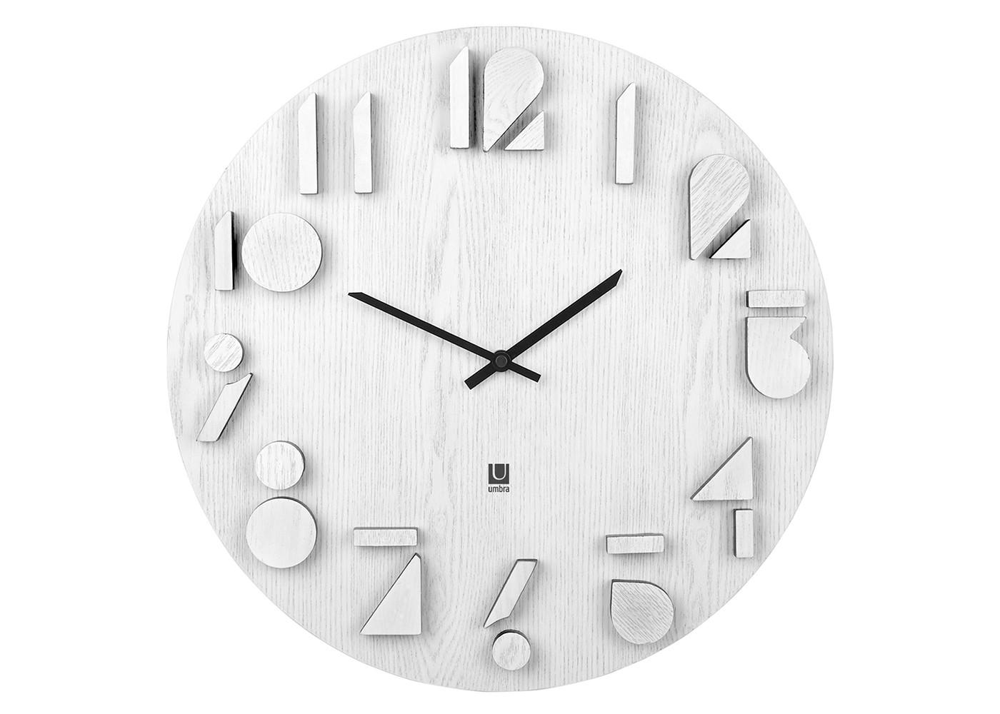 Часы настенные ShadowНастенные часы<br>Оригинальные часы с циферблатом из окрашенного в белый цвет натурального дерева. Объемные цифры выполнены из того же материала, что и основание, а их грани подкрашены темным цветом, что создает необычный эффект светотени. Бесшумный ход. Работают от одной стандартной батарейки АА (в комплект не входит).&amp;lt;div&amp;gt;&amp;lt;br&amp;gt;&amp;lt;/div&amp;gt;&amp;lt;div&amp;gt;Дизайн: Alan Wisniewski&amp;lt;/div&amp;gt;<br><br>Material: Дерево<br>Depth см: 2,5<br>Diameter см: 40,5