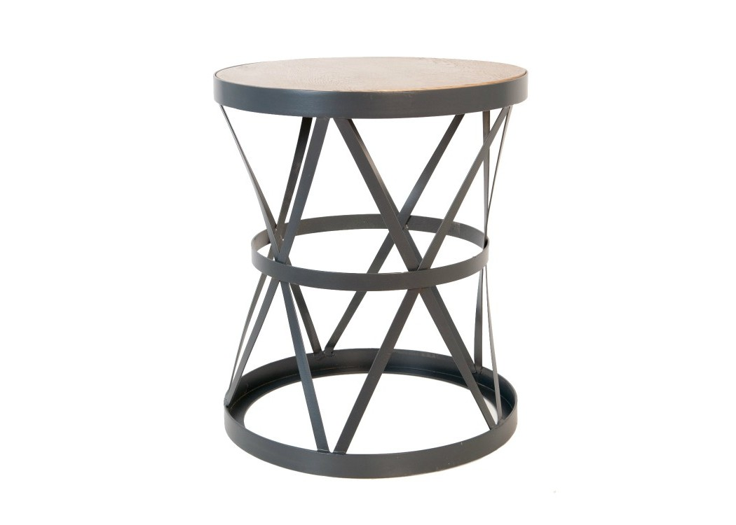 Стол ParlanПриставные столики<br>Простоту и изящность конструкции обеспечивает ажурное металлическое основание. Такой лаконичный столик впишется в любой интерьер вашего дома.&amp;amp;nbsp;<br><br>Material: Металл<br>Height см: 60<br>Diameter см: 50