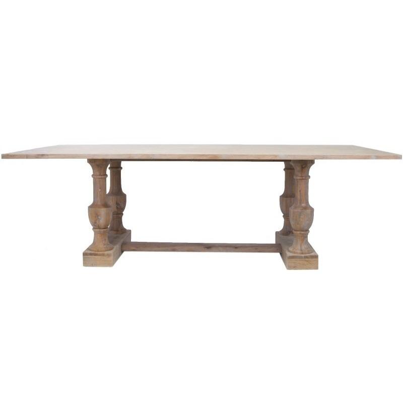 Стол RinoОбеденные столы<br>Обеденный стол ручной работы, основание выполнено из древесины дуба. У него прямоугольная столешница и креативные резные деревянные ножки, выполненные в виде двух круглых опор. Стол с первого взгляда покоряет своей идеей и ее блестящим воплощением.&amp;amp;nbsp;&amp;lt;div&amp;gt;&amp;lt;br&amp;gt;&amp;lt;/div&amp;gt;&amp;lt;div&amp;gt;&amp;lt;span style=&amp;quot;line-height: 24.9999px;&amp;quot;&amp;gt;Материал: массив дуба, МДФ&amp;lt;/span&amp;gt;&amp;lt;br&amp;gt;&amp;lt;/div&amp;gt;<br><br>Material: Дуб<br>Width см: 240<br>Depth см: 108<br>Height см: 76