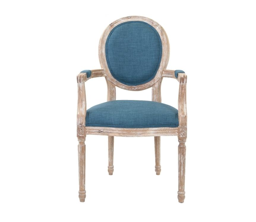 Кресло Diella blueПолукресла<br>Элегантное кресло Diella классического дизайна, его изящные подлокотники выполнены с применением резной работы по дереву. Модель с овальной спинкой в деревянной раме, украшенной резным элементом. Элегантное кресло с лаконичным размером отлично впишется в интерьер столовой, гостиной или кабинета.&amp;lt;div&amp;gt;&amp;lt;br&amp;gt;&amp;lt;/div&amp;gt;&amp;lt;div&amp;gt;Материал: Лен, Массив дуба.&amp;lt;/div&amp;gt;<br><br>Material: Дуб<br>Width см: 57<br>Depth см: 57<br>Height см: 99