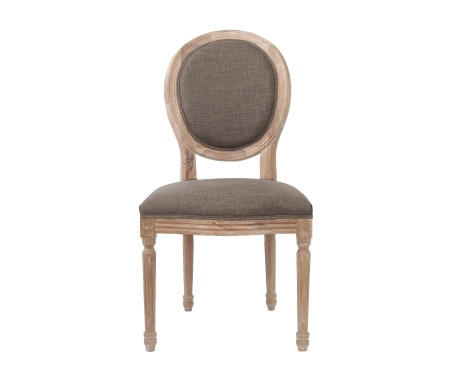 Стул MiroОбеденные стулья<br>Изысканный стул Miro с округлой спинкой, напоминающей медальон, выполнен в элегантном классическом французском стиле. Основание модели выполнено из цельной породы древесины — массива дуба, искусственно состаренного. Такой стул эффектно смотрится как в контрастной, так и в однотонной обстановке.&amp;lt;div&amp;gt;&amp;lt;br&amp;gt;&amp;lt;/div&amp;gt;&amp;lt;div&amp;gt;Материал Лен, Массив дуба.&amp;lt;/div&amp;gt;<br><br>Material: Дуб<br>Width см: 50<br>Depth см: 56<br>Height см: 98
