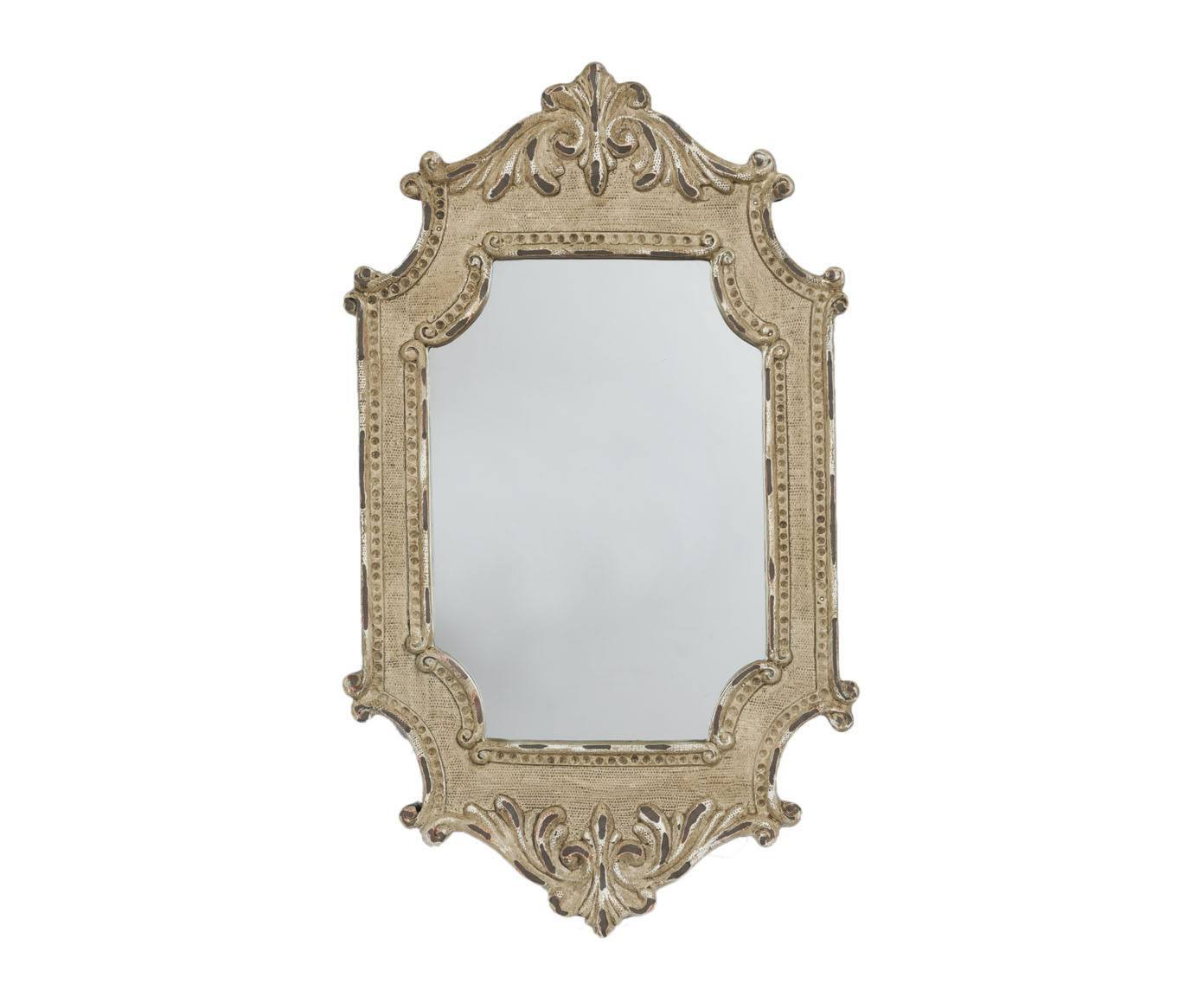 Зеркало RaffiaНастенные зеркала<br>Стиль дома отражает стиль жизни его обитателей. Зеркало Raffia создано для тех, кто понимает толк в моде, любит комфорт, изящность, стильные детали с характером и не боится экспериментировать. Оно идеально дополнит интерьер вашей гостиной, спальни или прихожей.<br><br>Material: Пластик<br>Width см: 19<br>Depth см: 4<br>Height см: 28.5