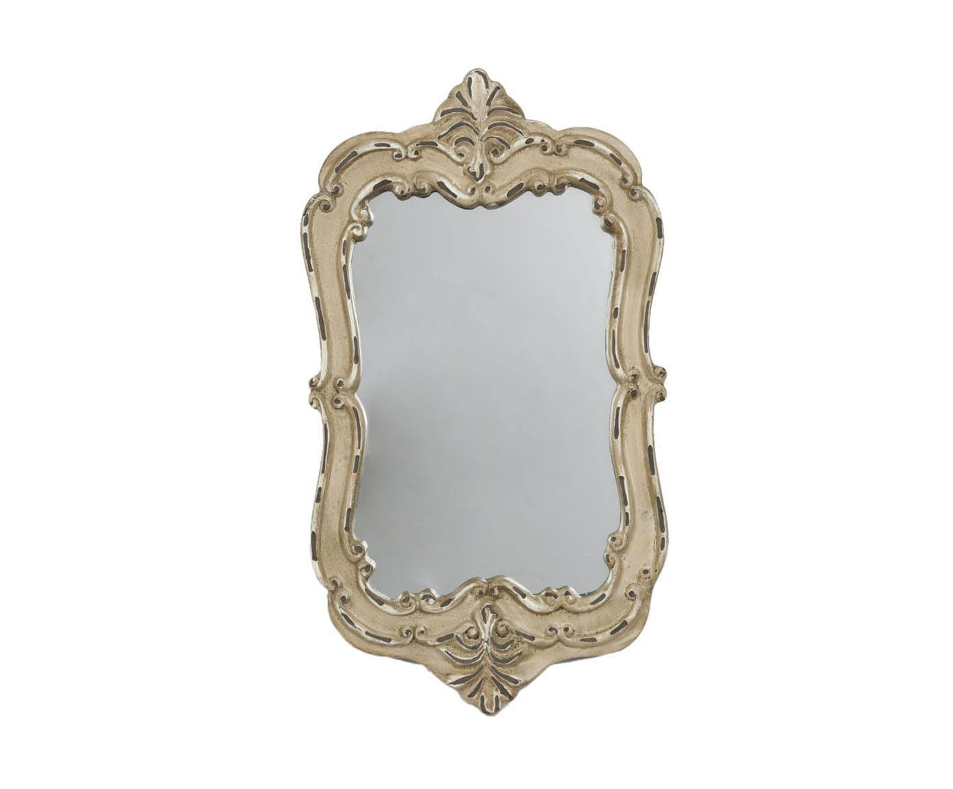 Зеркало PompeНастенные зеркала<br>Стиль дома отражает стиль жизни его обитателей. Зеркало Pompe создано для тех, кто понимает толк в моде, любит комфорт, изящность, стильные детали с характером и не боится экспериментировать. Оно идеально дополнит интерьер вашей гостиной, спальни или прихожей.<br><br>Material: Пластик<br>Width см: 19<br>Depth см: 4<br>Height см: 28.5