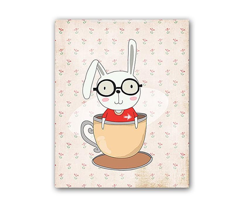 Постер RabbitПостеры<br>Рамки на выбор белого, черного, серебряного, золотого цветов.<br><br>Material: Бумага<br>Length см: None<br>Width см: 30<br>Height см: 40