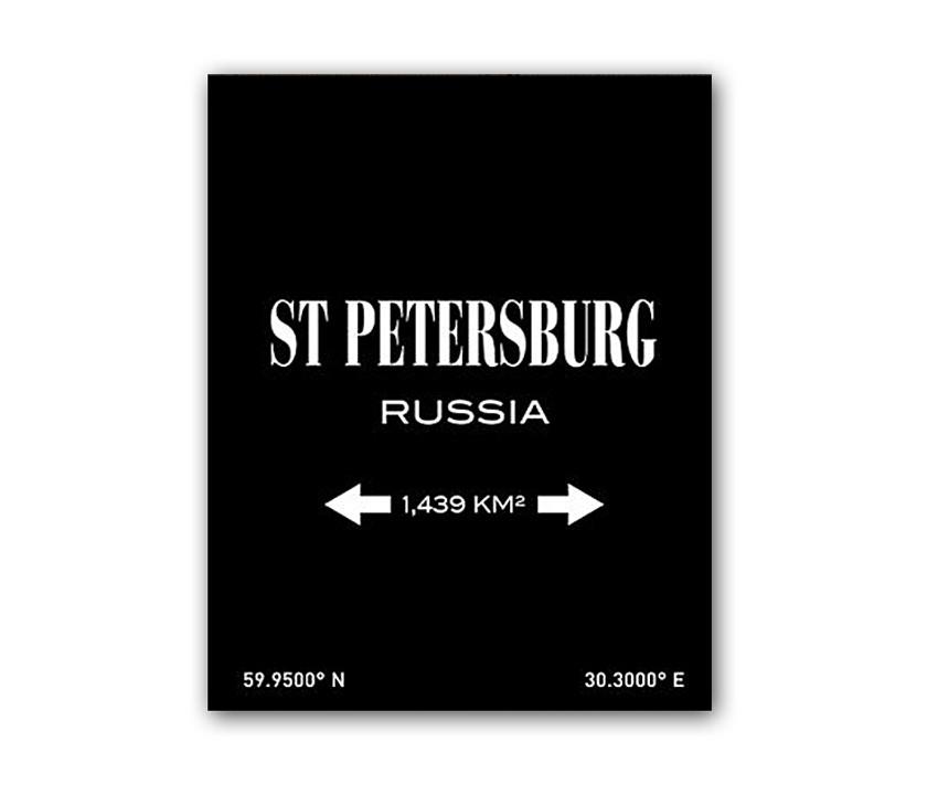 Постер St.PetersburgПостеры<br>Рамки на выбор белого, черного, серебряного, золотого цветов.<br><br>Material: Бумага<br>Length см: None<br>Width см: 30<br>Height см: 40