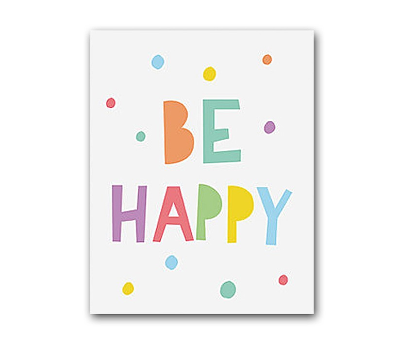 Постер Be happyПостеры<br>Рамки на выбор белого, черного, серебряного, золотого цветов.<br><br>Material: Бумага<br>Length см: None<br>Width см: 30<br>Height см: 40