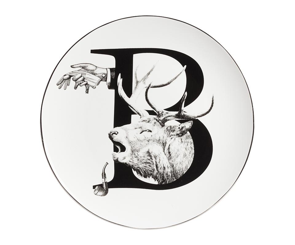 Тарелка Alfabeto BДекоративные тарелки<br><br><br>Material: Фарфор<br>Depth см: 1<br>Height см: None<br>Diameter см: 25.4