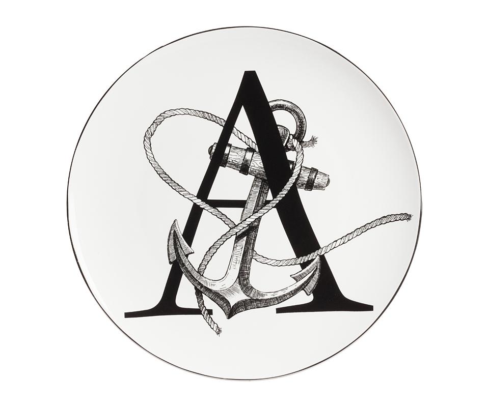 Тарелка Alfabeto AДекоративные тарелки<br><br><br>Material: Фарфор<br>Depth см: 1<br>Diameter см: 25,4