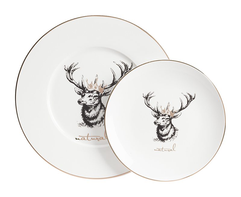 Комплект тарелок TisarДекоративные тарелки<br>Размеры: большая тарелка диаметр 27,5 см.; малая тарелка диаметр 20см.<br><br>Material: Фарфор<br>Depth см: 2<br>Height см: None<br>Diameter см: 27,5