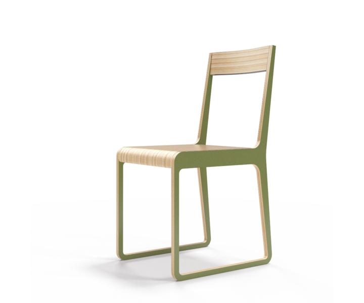 Стул S?tersОбеденные стулья<br>Классика современного дизайна. Окрас элементов стула в оливковый цвет. Сборка не требуется.<br><br>Material: Фанера<br>Width см: 40<br>Depth см: 51<br>Height см: 85