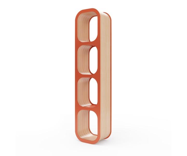 Полка SkaraПолки<br>Полка Skara придаст помещению атмосферу комфорта и уюта. Вы можете поставить ее горизонтально или вертикально, или закрепить на стене. Окрас элементов полки в морковный цвет. Сборка не требуется.<br><br>Material: Фанера<br>Ширина см: 35<br>Высота см: 149<br>Глубина см: 22