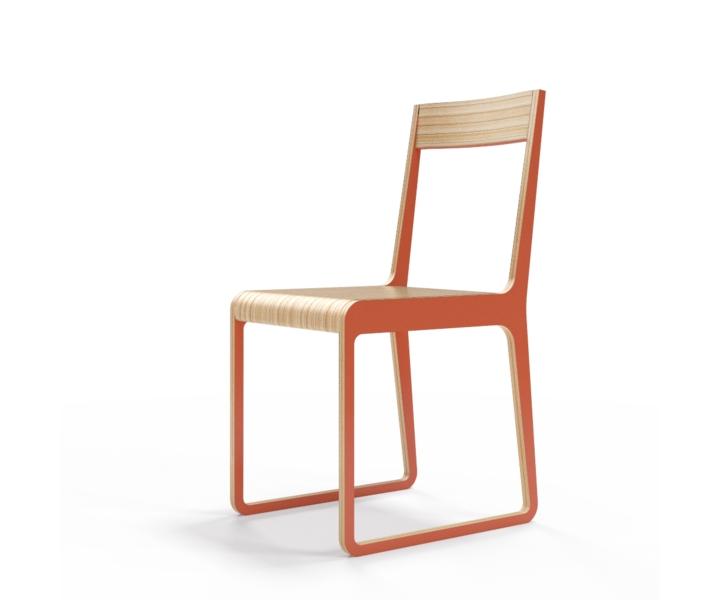 Стул S?tersОбеденные стулья<br>Классика современного дизайна. Окрас элементов стула в морковный цвет. Сборка не требуется.<br><br>Material: Фанера<br>Width см: 40<br>Depth см: 51<br>Height см: 85