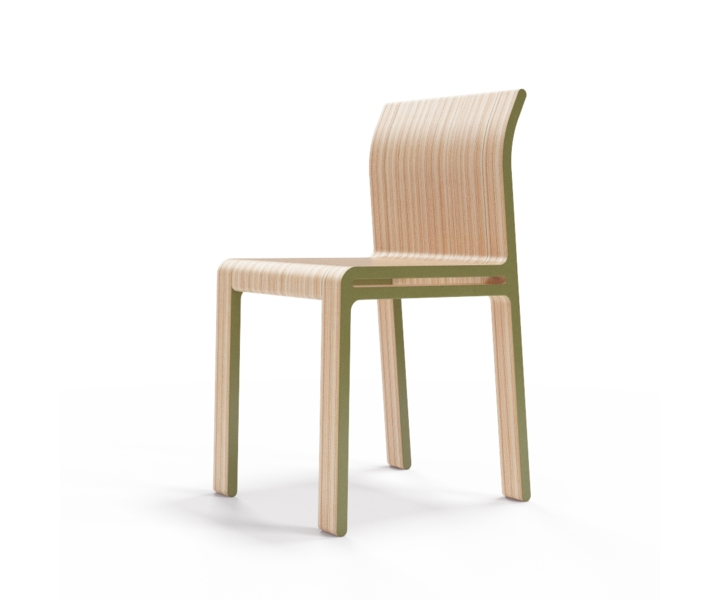 Стул M?nster?sОбеденные стулья<br>Простота и основательность. Окрас элементов стула в оливковый цвет. Сборка не требуется.<br><br>Material: Фанера