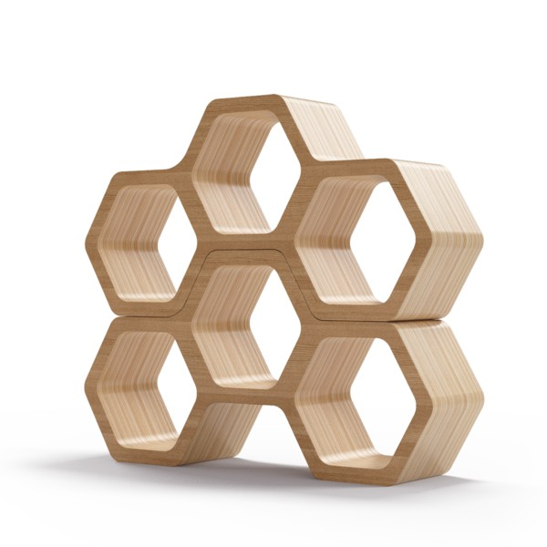 Полка BergsПолки<br>Соты – универсальная форма с точки зрения эргономики и функциональности, но также отличный элемент дизайна. Полки Bergs преобразуют атмосферу вашего интерьера, позволяя нестандартно подойти к вопросу хранения вещей. Отделка шпоном дуба. Сборка не требуется.<br><br>Material: Фанера<br>Ширина см: 100.0<br>Высота см: 52.0<br>Глубина см: 24.0