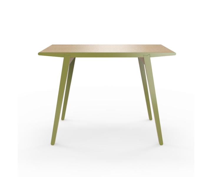 Стол M?nster?sОбеденные столы<br>Стол M?nster?s сочетает в себе формы футуристичных 60-х и естественность скандинавского дизайна. Окрас элементов стола в оливковый цвет. Сборка не требуется. Данный стол производится в 5 размерах.<br><br>Material: Фанера<br>Width см: 110<br>Depth см: 60<br>Height см: 75