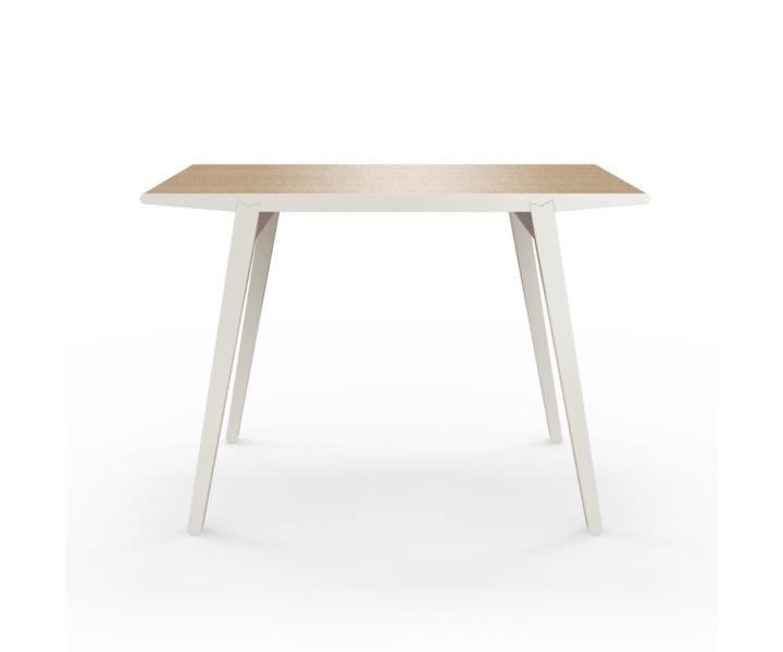 Стол M?nster?sОбеденные столы<br>Стол M?nster?s сочетает в себе формы футуристичных 60-х и естественность скандинавского дизайна. Окрас элементов стола в молочный цвет. Сборка не требуется. Данный стол производится в 5 размерах.<br><br>Material: Фанера<br>Width см: 110<br>Depth см: 60<br>Height см: 75
