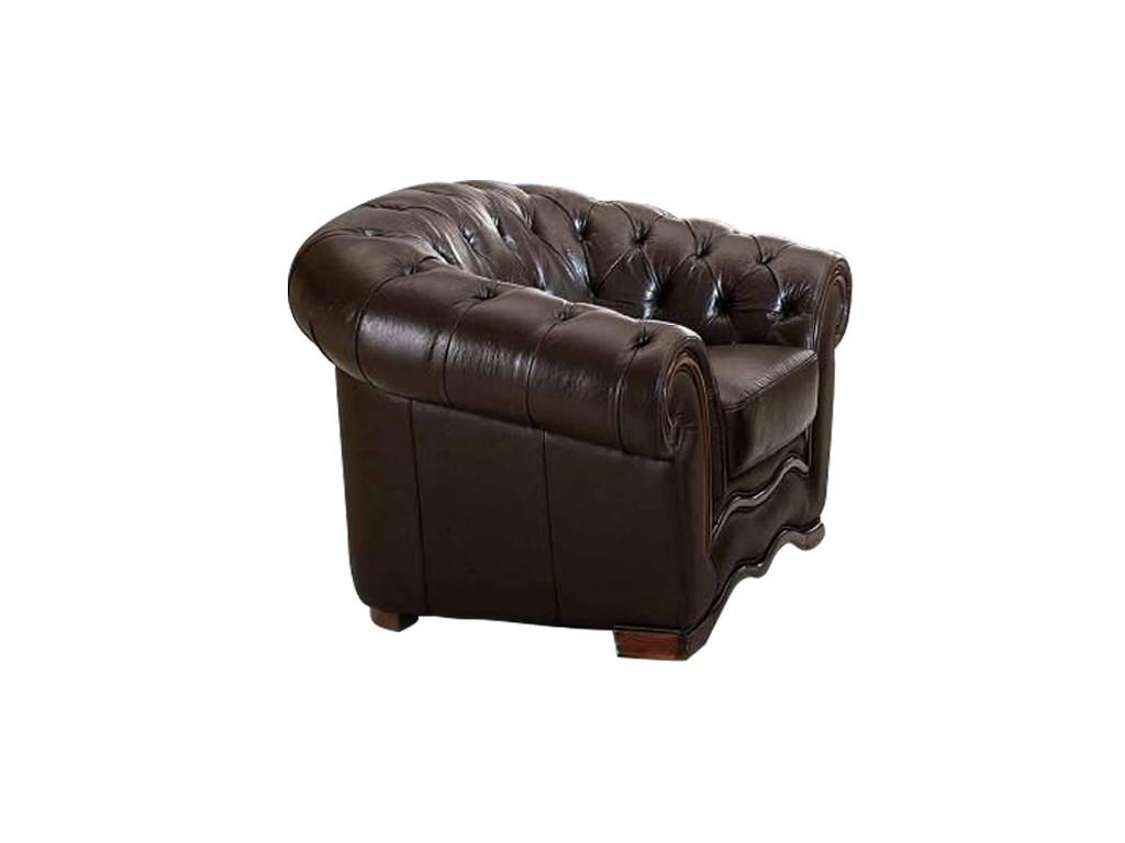 Кресло В-262 коричневыйКожаные кресла<br><br><br>Material: Кожа<br>Width см: 127<br>Depth см: 101<br>Height см: 86