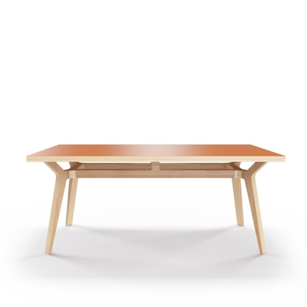 Стол Bor?sОбеденные столы<br>Стол Bor?s — прочная конструкция, которая станет связующим звеном совместного времяпрепровождения. Окрас столешницы в морковный цвет, отделка подстолья шпоном дуба. Сборка не требуется.<br><br>Material: Фанера<br>Width см: 180<br>Depth см: 80<br>Height см: 75