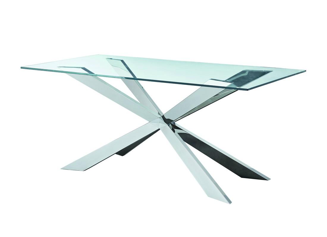 Стол T 088 (180)Обеденные столы<br>Требуется сборка.<br><br>Material: Стекло<br>Ширина см: 180<br>Высота см: 76<br>Глубина см: 90