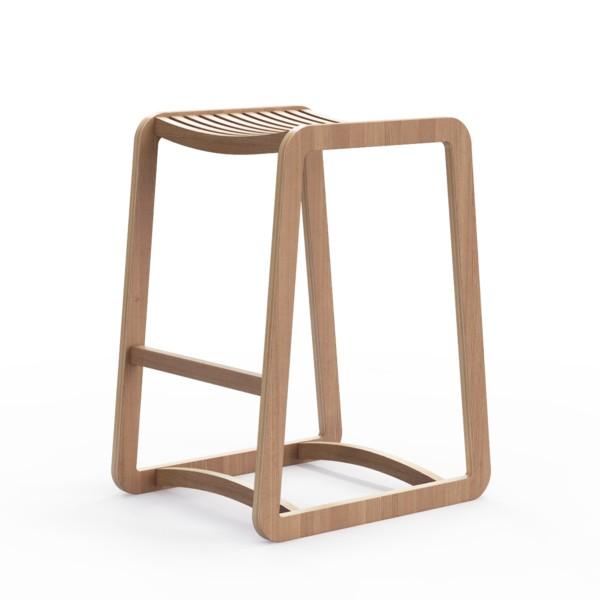 Барный стул Degerfors SБарные стулья<br>Линейка стульев и табуретов Degerfors  подойдет и для столовой, и для бара. Отделка шпоном дуба. Сборка не требуется.<br><br>Material: Фанера<br>Width см: 41<br>Depth см: 50<br>Height см: 65