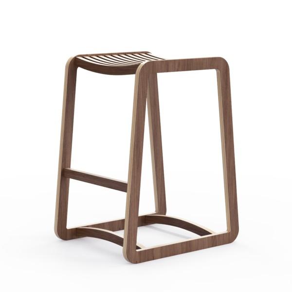 Барный стул Degerfors SБарные стулья<br>Линейка стульев и табуретов Degerfors  подойдет и для столовой, и для бара. Отделка шпоном ореха. Сборка не требуется.<br><br>Material: Фанера<br>Width см: 41<br>Depth см: 50<br>Height см: 65