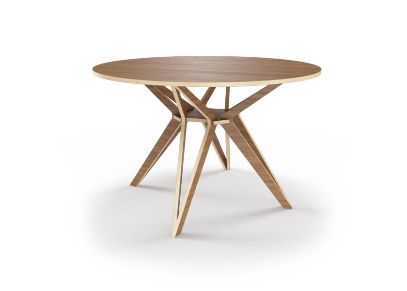 Стол HagforsОбеденные столы<br>Hagfors – это стол, необычный дизайн которого создаст изящный акцент в вашем интерьере. Отделка шпоном дуба. Сборка не требуется. Возможен в диаметрах 60, 90, 100, 120 и 148см.<br><br>Material: Фанера<br>Width см: None<br>Height см: 75<br>Diameter см: 120