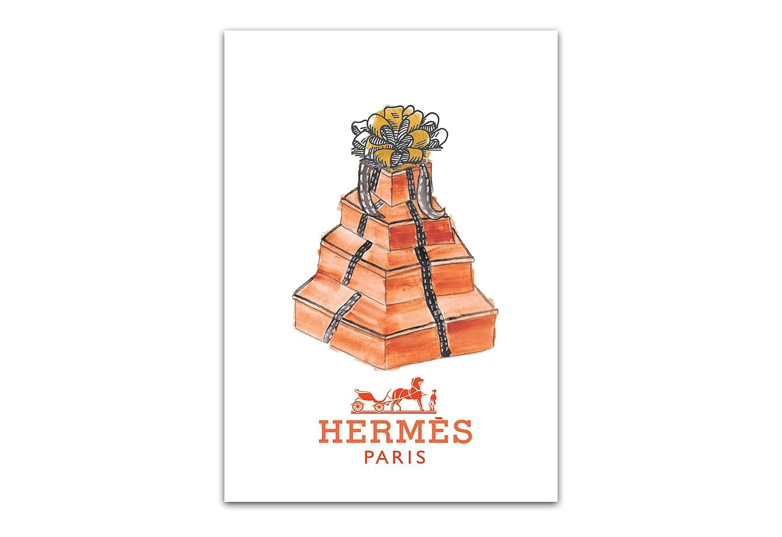 Постер HermesПостеры<br>Постеры для интерьера играют декоративную роль и заключают в себе определенный образ, который будет отражать вашу индивидуальность и создавать атмосферу в помещении. Красочный декоративный постер Hermes станет ярким акцентом в любом интерьере и прекрасным подарком поклонникам знаменитого французского бренда. Постер выполнен типографским способом на плотной бумаге и вставлен в рамку, позволяющую удобно закрепить его на стене в любом положении. Купите постер Hermes себе или в подарок, ведь это прекрасная идея для преображения интерьера — основным преимуществом этого элемента декора является то, что при желании интерьер легко обновить, заменив старое изображение новым. Размер А3 (297?420 мм), А4 (210 мм х 297 мм). Другие размеры — под заказ.<br>Рамки на выбор белого, черного, серебряного, золотого цветов.<br><br>Material: Бумага<br>Length см: None<br>Width см: 30<br>Height см: 40