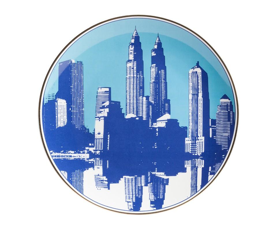 Тарелка City МалаяДекоративные тарелки<br><br><br>Material: Фарфор<br>Depth см: 1<br>Diameter см: 20,3