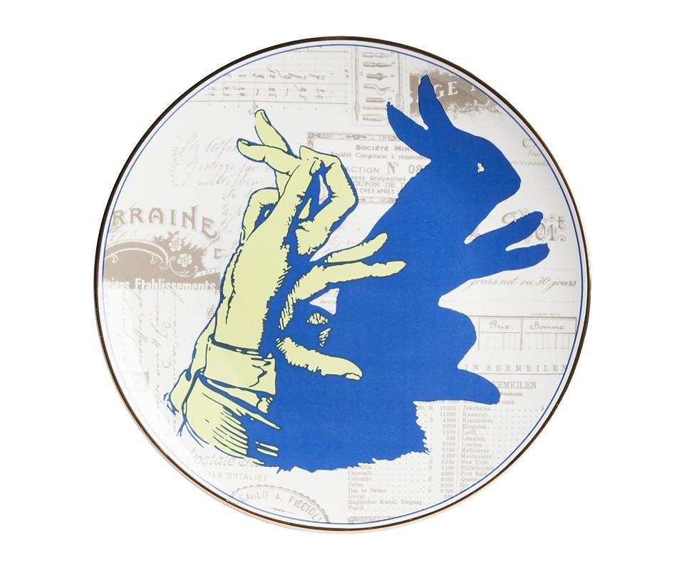 Тарелка TrucoДекоративные тарелки<br><br><br>Material: Фарфор<br>Depth см: 1<br>Diameter см: 27