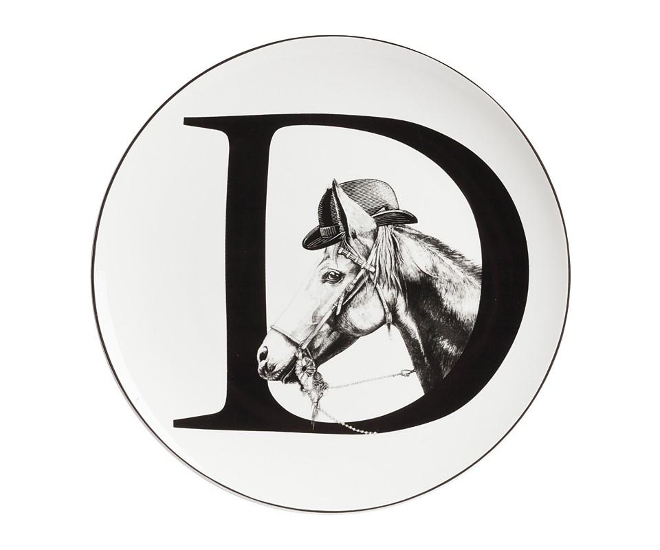 Тарелка Alfabeto DДекоративные тарелки<br><br><br>Material: Фарфор<br>Depth см: 1<br>Diameter см: 25,4