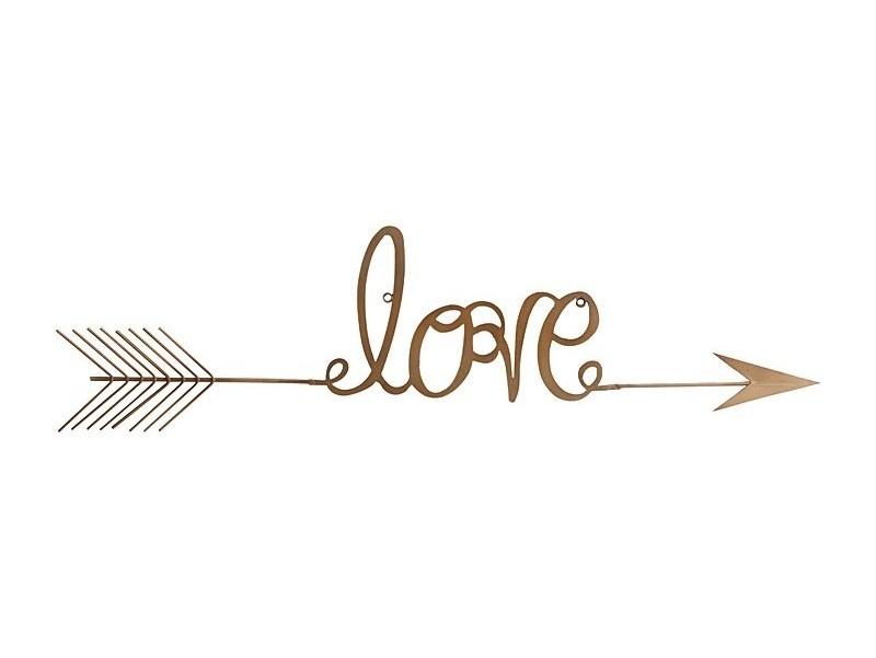 Настенный декор LoveДругое<br><br><br>Material: Металл<br>Width см: 60<br>Depth см: 0,5<br>Height см: 14