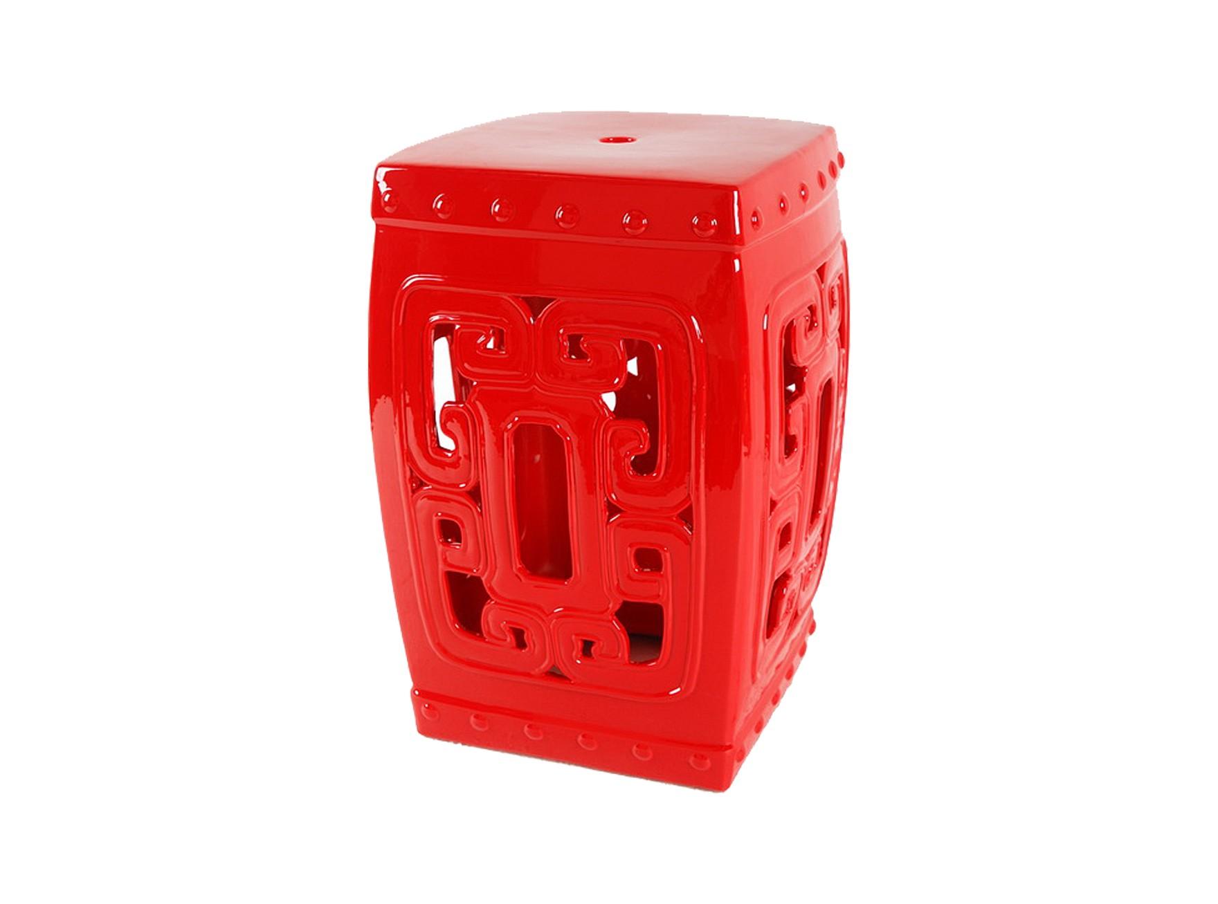 """Керамический столик-табурет """"Oriental Stool Red"""""""